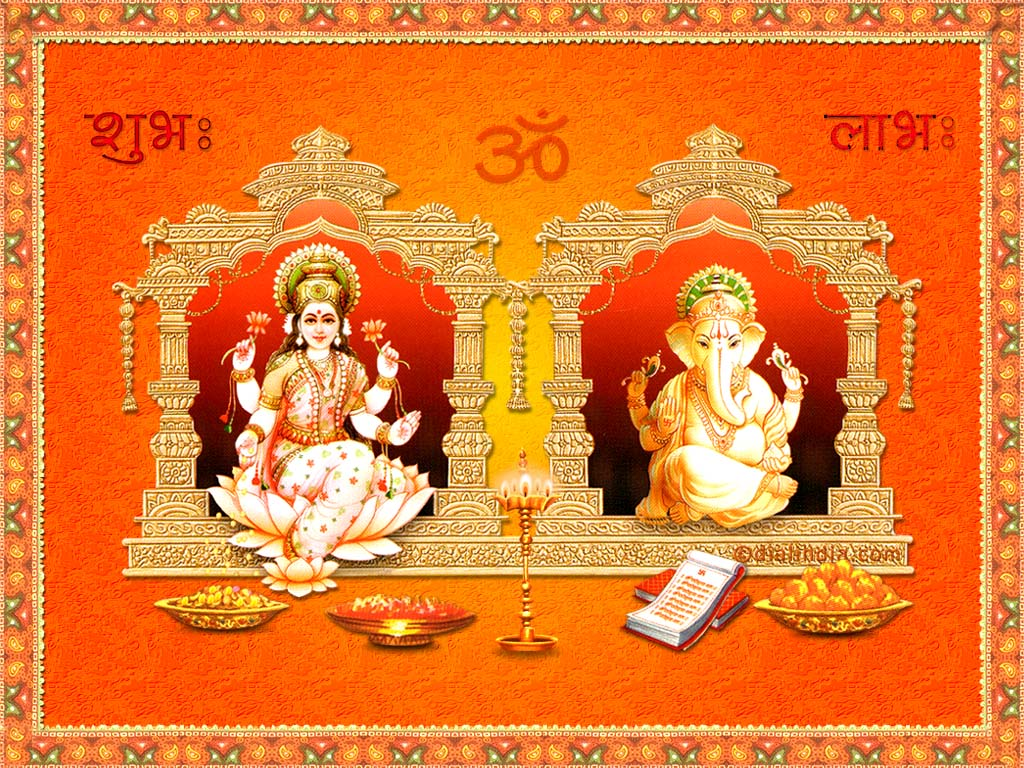 Goddess Laxmi and Lord Ganesh